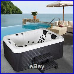 Outdoor Bathtub 3-4 Person Hot Tubs Spa Jacuzzis 51 Massage Jets Whirlpool Bath