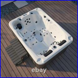 Outdoor Luxury 3-4 Persons Hot tub Thermostatic Spa Whirlpool 51 Jacuzzi Jets