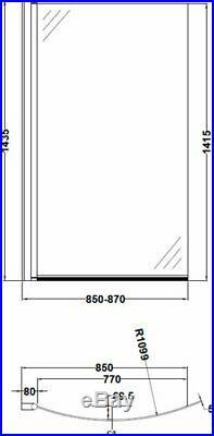 P Shape 1700x900 LH Whirlpool Jacuzzi Bath Vitura Jets Front Panel Ozonator LED