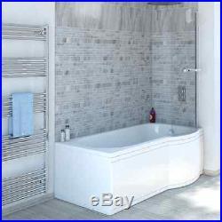 P Shape Whirlpool Shower Bath 11 Jets + free LED Light Jacuzzi Spa