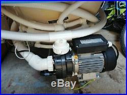 P Shaped Jacuzzi Shower Bath 23 Jet Whirlpool Spa System + free LED Light