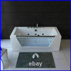 Person Whirlpool Bath Tub Jacuzzi Jets Back Massage Spa Shower 1700mm led