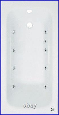 Phoenix Crystal 1600 x 700mm 8 Jet Whirlpool / Jacuzzi Bath