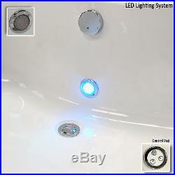 Quantum Duo 1900 x 900mm 24 Luxury Jet Whirlpool /Jacuzzi Bath & Light D/Ended