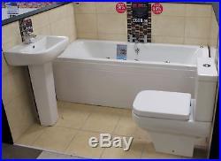 R2 Ruby Square Mini Whirlpool Bath Bathroom Suite Jacuzzi Type Luxury