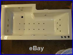 RH 23 Jet L Shaped Whirlpool Spa Shower Bath Jacuzzi Spa + Free LED Lighting