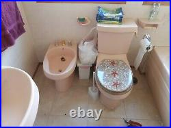 Retro 80's 4 Piece Bathroom Suite Jacuzzi Bath Toilet Sink Bidet