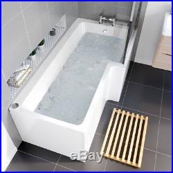 Right Hand Trojan 14 Jets Whirlpool Spa Jacuzzi Massage Shower Bath White