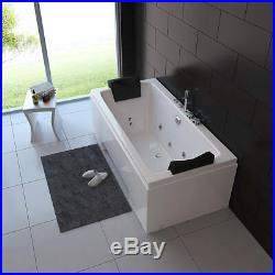 Sardinia 1 Person Seating Whirlpool Bath Tub with Jacuzzi Jets and Massage Jets