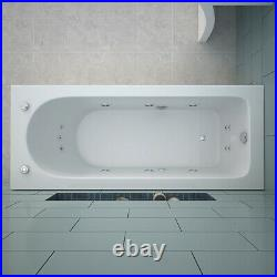 Shower Spa Jacuzzi Whirlpool Bath 13 Massage jets Bathtub With Waste and Pillow