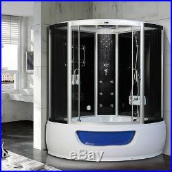 Steam Shower Corner Bath whirlpool Jacuzzis Cabin Cubicle Enclosure HGZM48
