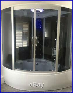 Steam Shower Whirlpool Bath Jacuzzi Radio LED Massage Jets & Bluetooth
