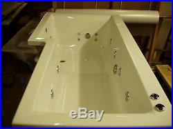 Supercast LH 17 Jet L Shaped Whirlpool Shower Bath Screen Panel Jacuzzi Spa