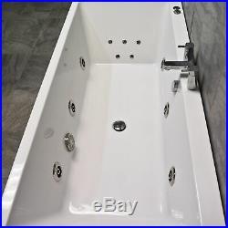 Suzie Slim Rim Square Centre Tap Hole Whirlpool Jacuzzi Spa Bath 6 or 11 Jets