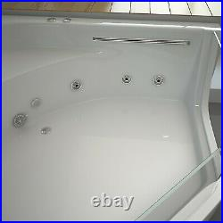 TUSCANY WHIRLPOOL CORNER BATH-JACUZZI JETS-LED LIGHTS-1500mm x 1500mm-RRP £1499