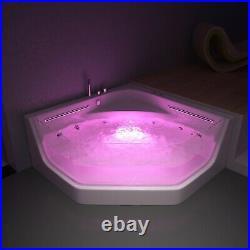 TUSCANY WHIRLPOOL CORNER BATH-JACUZZI JETS-LED LIGHTS-1500mm x 1500mm-RRP £1999