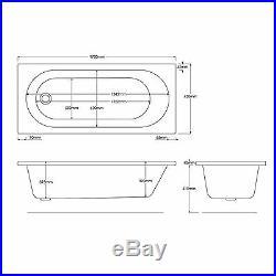 Trojan Cascade 1700 x 750mm 24 Jet Whirlpool / Jacuzzi Bath