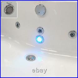 Trojan Cascade 1700 x 750mm 8 Jet Whirlpool / Jacuzzi Bath With LED Light