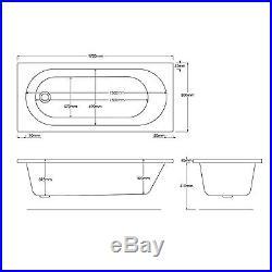 Trojan Cascade 1700 x 800mm 12 Jet Whirlpool / Jacuzzi Bath