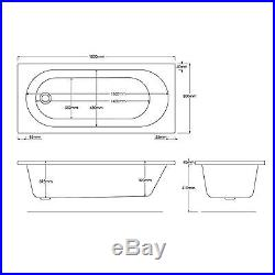 Trojan Cascade 1800 x 800mm 24 Jet Whirlpool / Jacuzzi Bath & LED Light