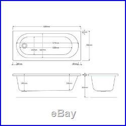 Trojan Cascade 6 8 Jet Whirlpool Bath White Acrylic 1600 x 700 mm Jacuzzi Spa