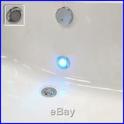 Trojan Derwent 1400 x 700mm 12 Luxury Jet Whirlpool / Jacuzzi Bath & LED Light