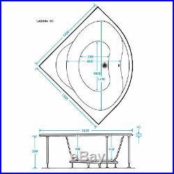 Trojan Laguna 1350 x 1350mm Corner 24 Jet Whirlpool / Jacuzzi Bath