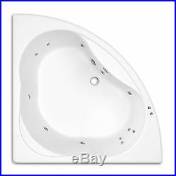 Trojan Laguna 1350mm x 1350mm Corner 12 Jet Whirlpool / Jacuzzi Bath