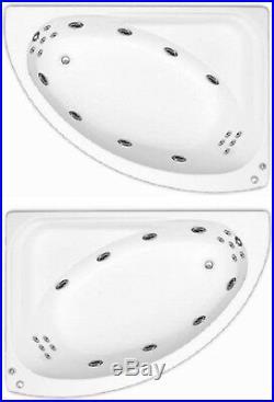 Trojan Orlando 18 Jet Whirlpool Offset Corner Bath White Acrylic Jacuzzi Spa