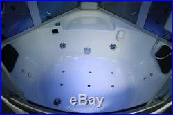 Two Person Steam Shower. Whirlpool tub withHeater Jacuzzi, Bluetooth, Aromatherapy