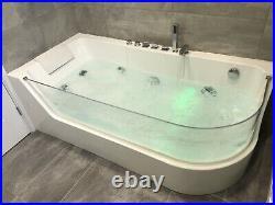 Verona Whirlpool Spa Bath 1700x800 Jacuzzi Jets And Underwater LED Mood Lighting