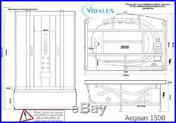 Vidalux Aegean White 1500 x 900 AirSpa Whirlpool Steam Shower Jacuzzi Bath