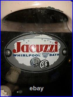 Vintage Professional Jacuzzi Whirlpool Spa Bath Model J300-B 1950's Pink WORKING