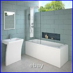 Virpol Double Ended Whirlpool Bath 13 Jets Jacuzzi Type Spa 1700 x 700mm Square