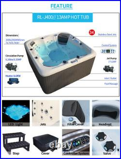 Virpol Outdoor Hot tub Thermostatic Spa Whirlpool 34 Jacuzzi Jets 6 Person