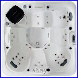 Virpol Outdoor Hot tub Thermostatic Spa Whirlpool 58 Jacuzzi Jets 6 Person