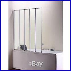 Volente 1250 mm Bath Shower Screen For Any Shape Bath, Whirlpool or Jacuzzi
