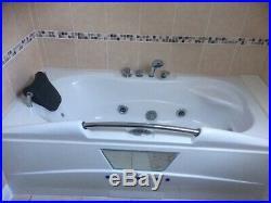 WHIRLPOOL / SPA BATH jacuzzi 12 jets massage radio led lights headrest seat