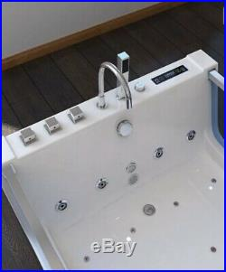 WHIRLPOOL Spa Bath HOT TUB 1800 x 1200mm DOUBLE Hydrotherapy JACUZZI Inc TAPS