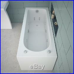 Whirlpool 13 Jest Jacuzzi Bathtub and Wall Mounted Basin Floor Stand Vanity Unit