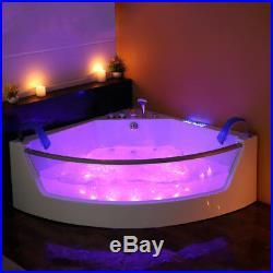 Whirlpool Bath 17 Jacuzzi Massage Jets Double Ended Corner SPA Bathtub 2018 NEW