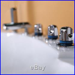 Whirlpool Bath 22 Jacuzzi Jets Double End Luxury SPA Corner White Bathtub 1350mm