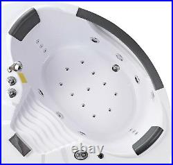 Whirlpool Bath Jacuzzi Jets Massage Double Ended Corner SPA 140x140cm