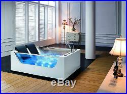 Whirlpool Bath Jacuzzi Massage Jets Shower 1800mm Rectangle bath Calabria