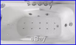 Whirlpool Bath Shower 17 JET Spa Jacuzzi Straight Bathtub 1690mm