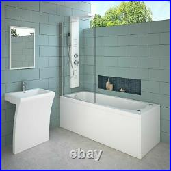 Whirlpool Bath Shower Spa Jacuzzis 13 Massage jets Bathtub With Waste and Pillow