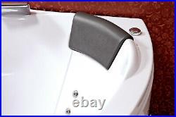 Whirlpool Bath Tub 140x140cm Jacuzzi Jets Hydro Massage Dual Disinfection Spa