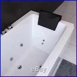 Whirlpool Bath With 8 Jacuzzi Massage Jets Shower Double Ended Rectangle Bathtub