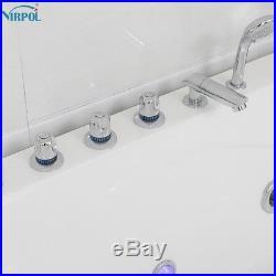 Whirlpool Bath With Large Jacuzzis Massage Jets Straight Double Bathtub 5153L