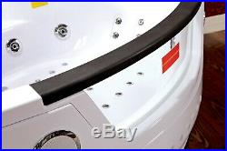 Whirlpool Bathtubs 152x152x56cm Corner Bath Hydromassage Jacuzzi Radio LED SPA